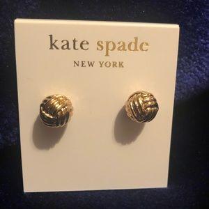 New Kate Spade gold ball earrings
